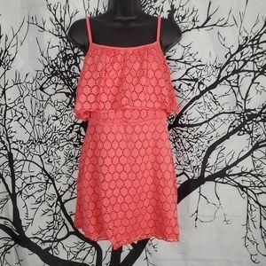 4/$25 Pink Coral Mini Dress Spaghetti Straps